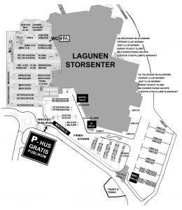Oversiktskart VM-Lagunen 2019